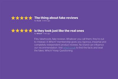 "Which? ""Fake reviews"" by Grey London"