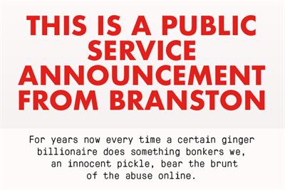 "Branston ""Branston not Branson"" by Wonderhood Studios"