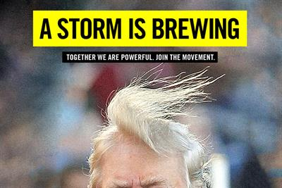 Amnesty International ruffles Trump's hair on roving billboards in DC