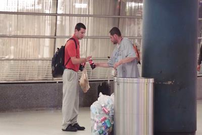 JetBlue and Coca-Cola stunt offers rewards for generosity