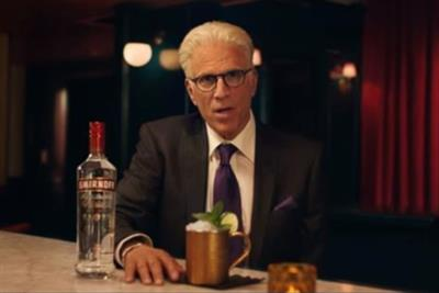 Ted Danson channels Sam Malone in Smirnoff ad