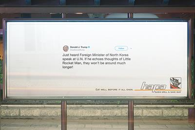 Hapa Sushi uses real Trump tweets so we 'eat well before it all ends'