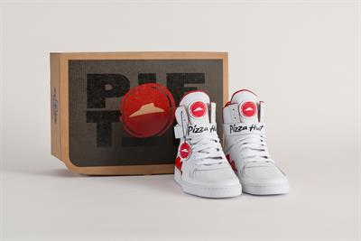 Pizza Hut makes sneakers that order pizza with the push of a button
