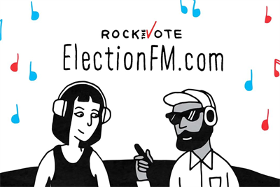 Rock the Vote will give voters exclusive music at the polls