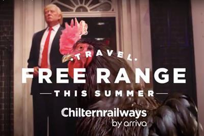 "Chiltern Railways ""Travel free-range"" by The Gate"