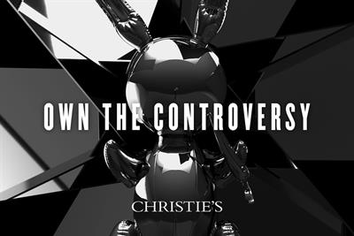 """Christie's """"Own the controversy"""" by Lida"""