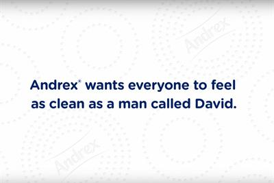"""Andrex """"Man called David"""" by J Walter Thompson"""