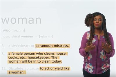 BBDO launches petition to change wildly offensive definitions of 'woman'