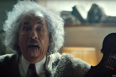 Einstein plays Lady Gaga on the violin in Nat Geo's first Super Bowl spot