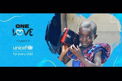 "Unicef ""One love"" by VaynerMedia London"