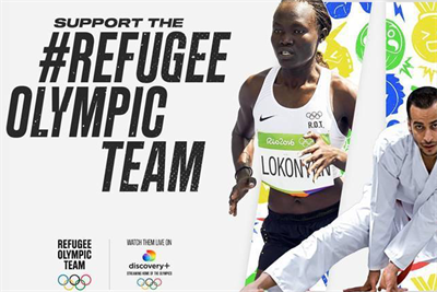 """Discovery+ and Eurosport """"#refugeeolympicteam"""" by R/GA London"""