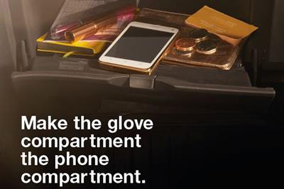 """Think! """"Make the glove compartment, the phone compartment"""" by AMV BBDO"""