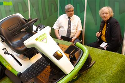 VIDEO - Sally Drury hears how Etesia's Atilla ride-on brushcutter can be operated with an iPad