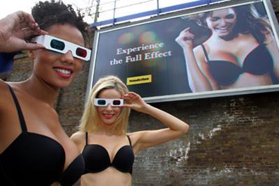 3D billboard gets the Wonderbra effect