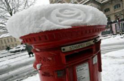 London snow provides blank canvas Extreme branding