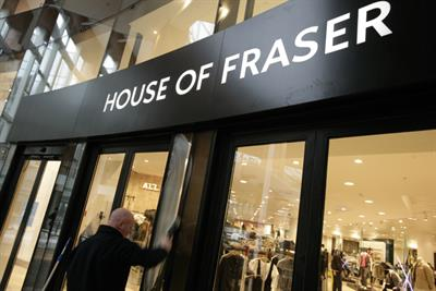 House of Fraser hires search and social agencies