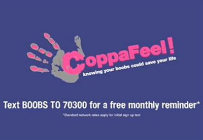 Mathew Horne tells cinema goers to 'CoppaFeel!' in breast cancer awareness ad