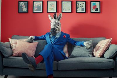 B&Q launches 'Let's Create' strapline with ad starring anthropomorphic zebra
