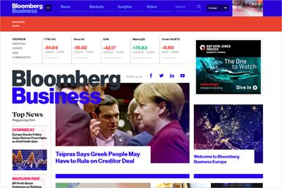 Bloomberg launches Europe digital brand