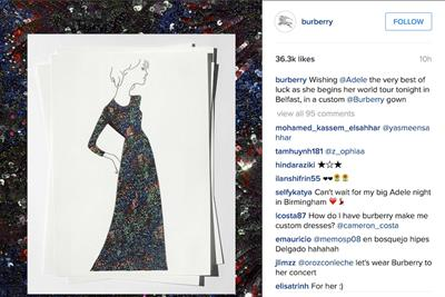Burberry to dress Adele on her world tour ... and more