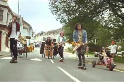 Lucozade uses unsigned band in third music ad