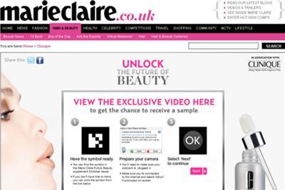 Clinique runs AR ad in Marie Claire
