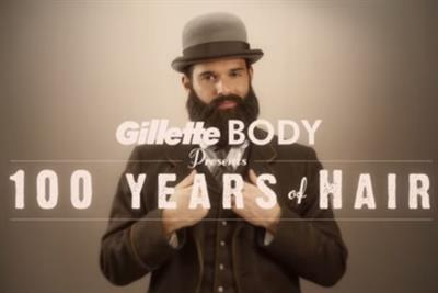 From mutton chops to manscaping, Gillette takes a trip through 100 years of male grooming