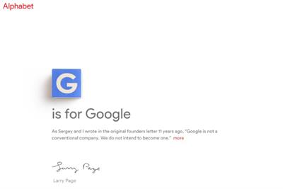 Google rebrands as Alphabet in surprise corporate restructure