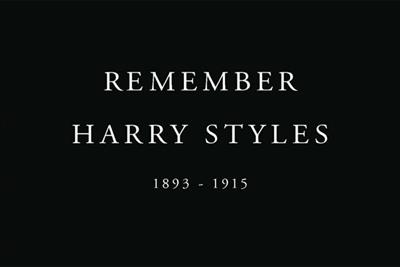 The 'deaths' of Harry Styles and Andy Murray commemorated in Royal British Legion ads
