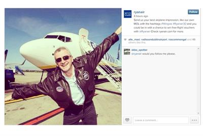 Ryanair joins Instagram four years after British Airways and EasyJet