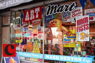 Inside Mark Denton's 'Art mart!'