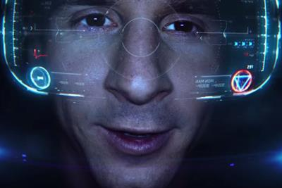 Samsung's latest virtual reality campaign turns Lionel Messi into Iron Man