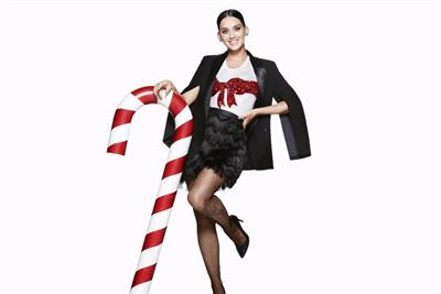 Katy Perry stars as relentlessly cheerful Christmas fairy for H&M