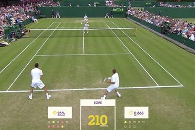 Wimbledon online game makes data entry fun