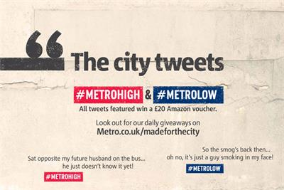 Metro asks readers to share experiences of city living on Twitter