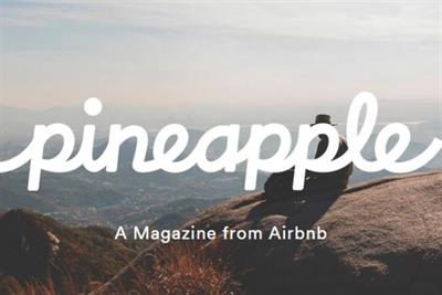 Airbnb reconsiders future of £9 Pineapple magazine