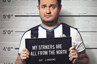 The Sun Dream Team campaign features mug shots of 'cheating' fans