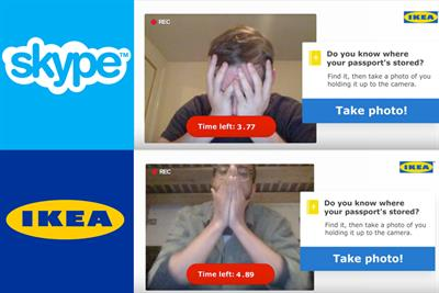 Ikea teams up with Skype for 30-second 'find your passport' challenge