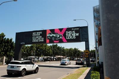 Lexus goads competitors in hi-tech outdoor campaign