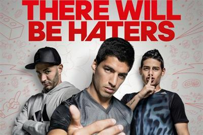 Soccer stars say 'bring on the hate' in UK Adidas spot