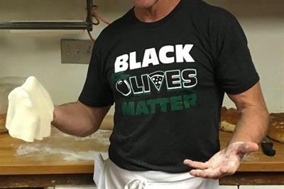 "Italian restaurant draws social media ire for selling ""Black Olives Matter"" merch"