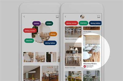 Pinterest extends its visual search technology to ads