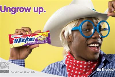 Milky Bar 'ungrow up' by Santo
