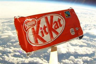 Kit Kat 'a break from gravity' by JWT London