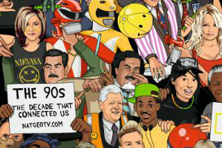 """National Geographic """"the 90s: the decade that connected us"""" by The Corner London"""