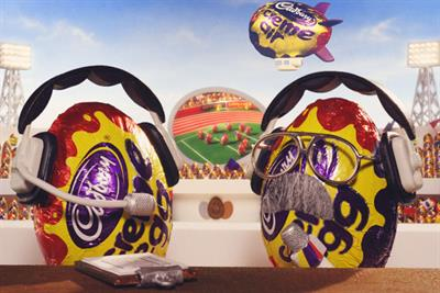 Creme Egg 'gooing for gold' by Fallon