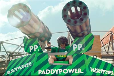 """Paddy Power """"shirt cannon"""" by Lucky Generals"""