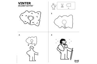 """Ikea """"Vinter skuldervarmer"""" by SMFB Oslo"""