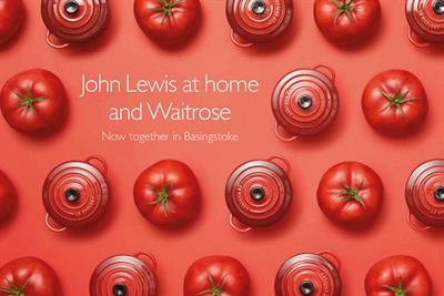 "John Lewis/Waitrose ""now together in Basingstoke"" by Adam & Eve/DDB"