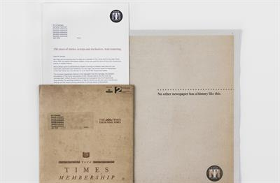 """News UK """"The Times print trial conversion"""" by Wunderman"""